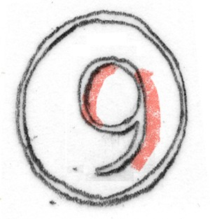 cijfer negen
