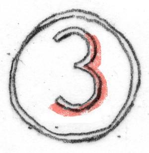 cijfer drie